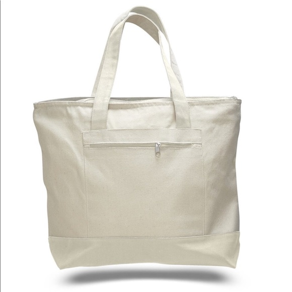8e49f534645 BagzDepot Bags | 12 Pack Heavy Duty Canvas Tote Natural | Poshmark